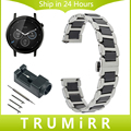 22mm correa de reloj de cerámica y de acero inoxidable de liberación rápida para moto 360 2 46mm samsung gear 2 r380 r381 r382 venda de reloj de pulsera correa