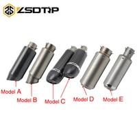 ZSDTRP 51mm Inlet Motorcyle Exhaust Pipe Exhaust Exhaust SC Exhaust Silencer For Z1000 Z750 Z800 NINJA250 Tmax530 KTM ATV