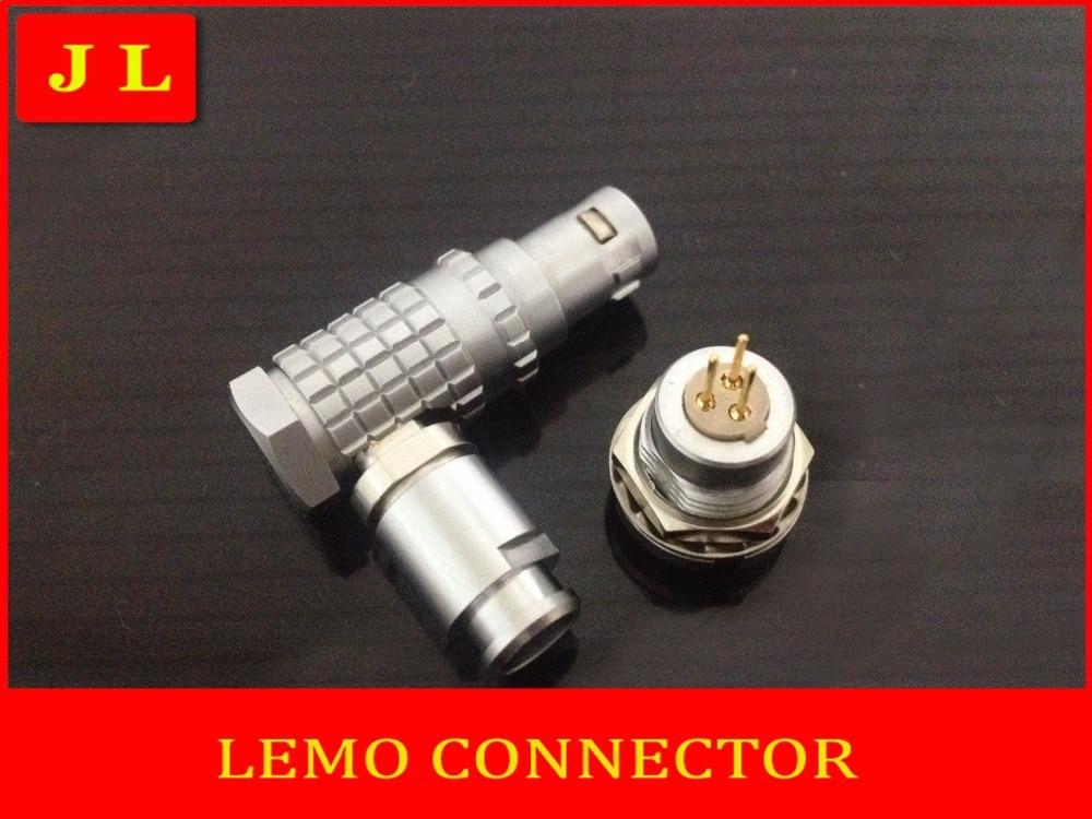ФОТО LEMO FHG.1B.303.CLAD/ECG.1B.303.CLL,LEMO connector 3pin plug socket,90 degree elbow plug compatible connector (Free shipping)