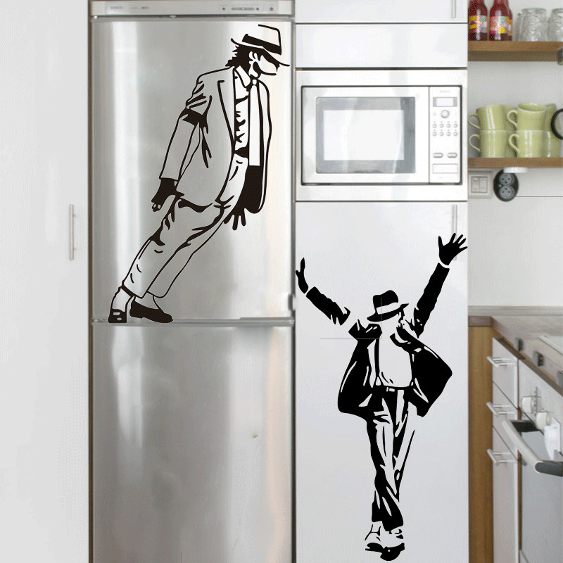 57*25cm Best Selling 2015 Dancing Michael Jackson Wall Stickers Removable  Vinyl wall Decor Wall