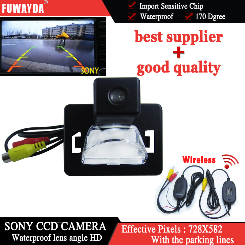 FUWAYDA Wireless camera SONY CCD Chip Special Car Rear View parking car CAMERA for Mazda 5 2005 Present With Guide Line HD
