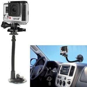 Image 3 - Вращающаяся на 360 градусов присоска LANBEIKA для Gopro Hero 9 8 7 6 5 Session DJI Yi 4K SJCAM держатель на присоске для автомобильного стекла
