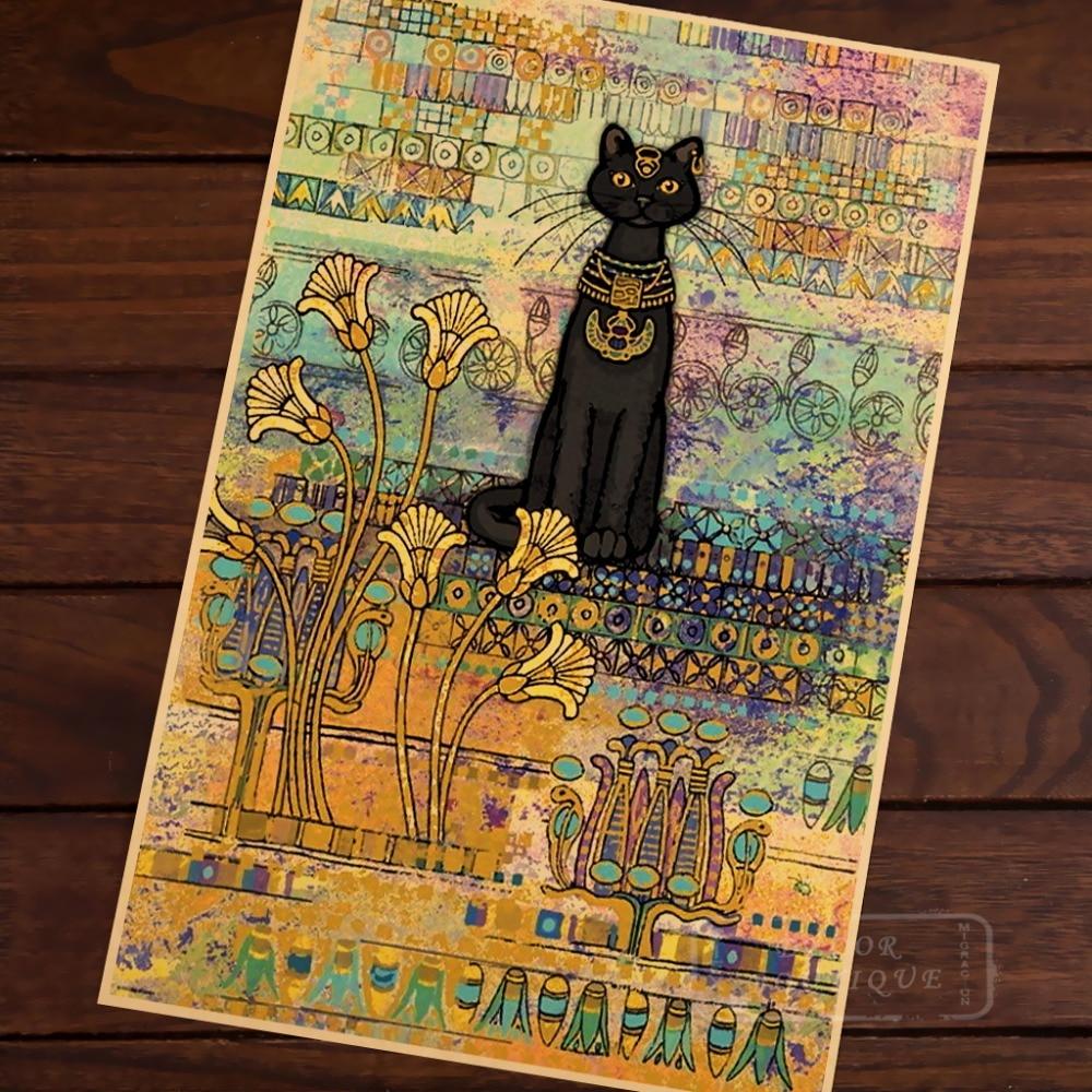 Tienda Online Estilo egipcio misterioso gato persa arte belleza ...