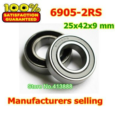 High quality deep groove ball bearing 6905 2RS 6905-2RS 61905-2RS 6905RS 6905RZ 25*42*9 mm 10pcs/lot best price 10 pcs 6901 2rs deep groove ball bearing bearing steel 12x24x6 mm