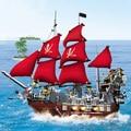 Sistema Del Bloque 53041 Compatible con leping Pasatiempos Educativo barco Pirata barba negro 3D de Construcción de Ladrillo Juguetes para Los Niños