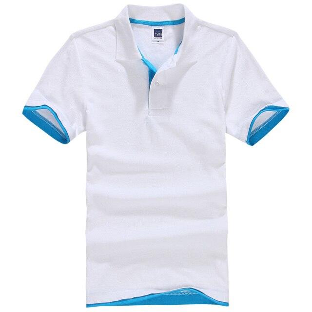 Новый мужской Polo Мужская Рубашка Поло Мужчины Хлопок Короткие рукава рубашки Одежды трикотажные golftennis Плюс Размер XS-XXL 3XL homme