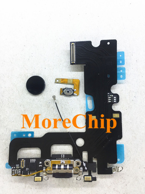 new product 80d0a 9fb99 US $17.5 |For iPhone 7 7G USB Charger Flex Cable with Home Button Key Flex  Ribbon Fix Home Return Function Repair Fingerprint Problem-in Mobile Phone  ...