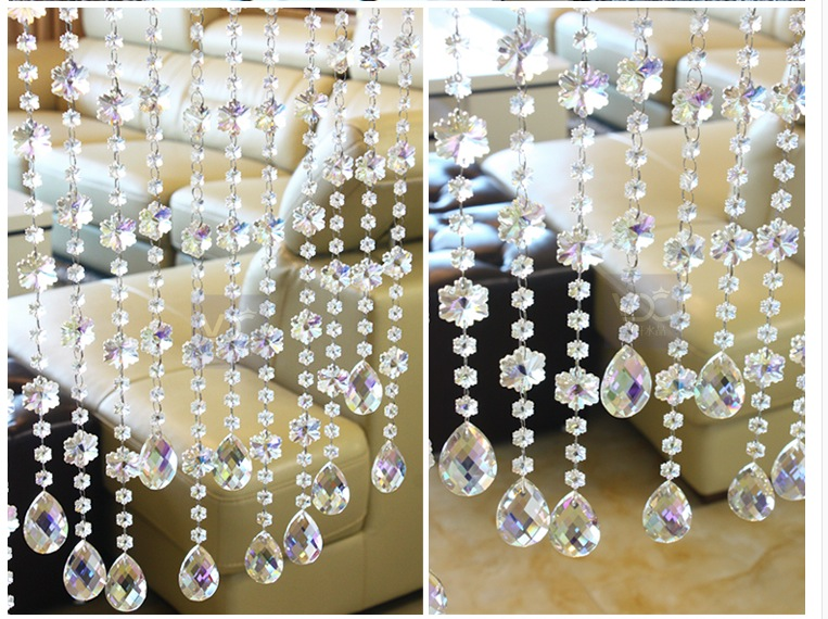 5pieces/Lot 1Meter DIY K9 Crystal Octagon Beads Chain Snow Flower Shaped Wedding Chandelier Chain+Metal Connector Free Shipping 5 pieces lot a20 bga