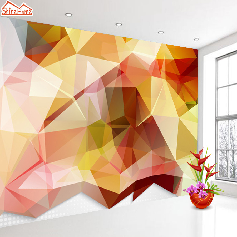 ShineHome-Abstract Diamond Square Brick Pattern Wallpaper Wall 3d Murals for Walls 3 d Wallpapers for Livingroom 3 d Mural Roll shinehome sunflower bloom retro wallpaper for 3d rooms walls wallpapers for 3 d living room home wall paper murals mural roll