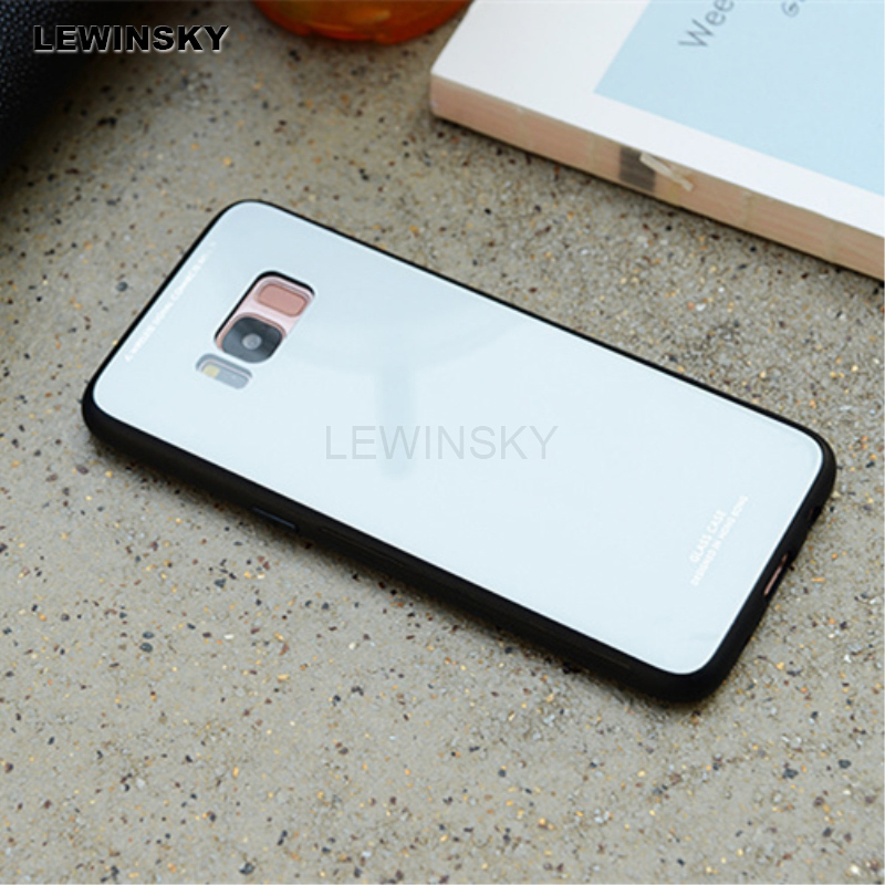 Galleria fotografica Tempered Glass Case For Samsung Galaxy A6 A8 S9 S8 Plus 2018 Note 8 Soft Edge case For Samsung Galaxy J5 J7 2017 S7 Edge Cases