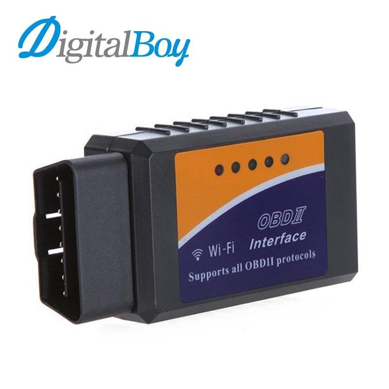 Prix pour Digitalboy Sans Fil Wifi Elm327 OBDII CAN BUS Vérifier Moteur De Voiture De Diagnostic Scanner Outil Adaptateur pour PC Android IOS iPhone