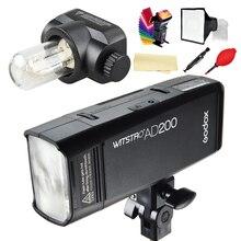 Godox AD200 Kieszeni Flash speedlite szybki TTL fotograficzne Dla Canon Nikon Sony 200 W Akumulator litowo-