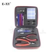 E-XY RDA MOD Coil DIY Tools Kit For RDA RBA Atomizer E Cigarette Tool Bag Master Tweezers Ohm Meter Tester Vapor