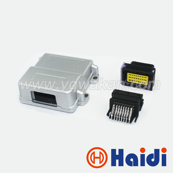 Free shipping Hot sales 24p male female FCI ECU generator controller modified plug circuit connector with 24pin Aluminum box перчатки рабочие archimedes stabi 91894