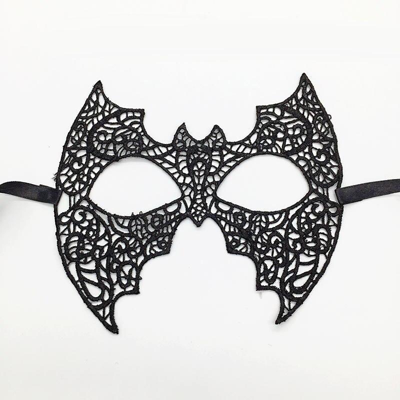 Черная Сексуальная кружевная Маскарадная маска для карнавала, Хэллоуина, маскарада на половину лица, маски для вечеринки, праздничные принадлежности для вечеринки#30 - Цвет: PM042