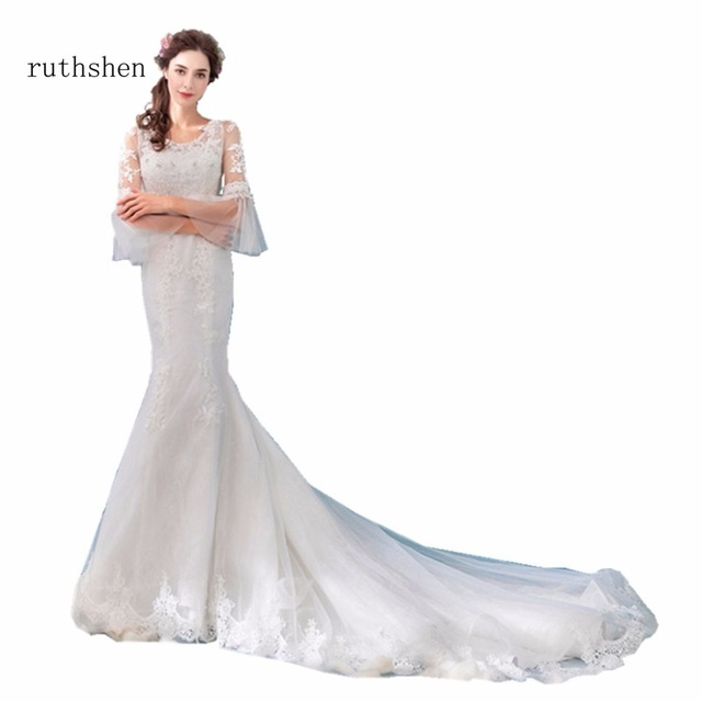 ruthshen Real Photos Princess Mermaid Gown Wedding Dresses Lace ...