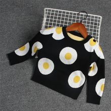 hot deal buy 2018 fashion unisex newborn baby girls boys winter cotton sweater toddler girl boy poached eggs cardigan sweaters baby clothing