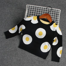 2018 Fashion Unisex Newborn Baby Girls Boys Winter Cotton Sweater Toddler Girl Boy Poached Eggs Cardigan Sweaters Baby Clothing(China)