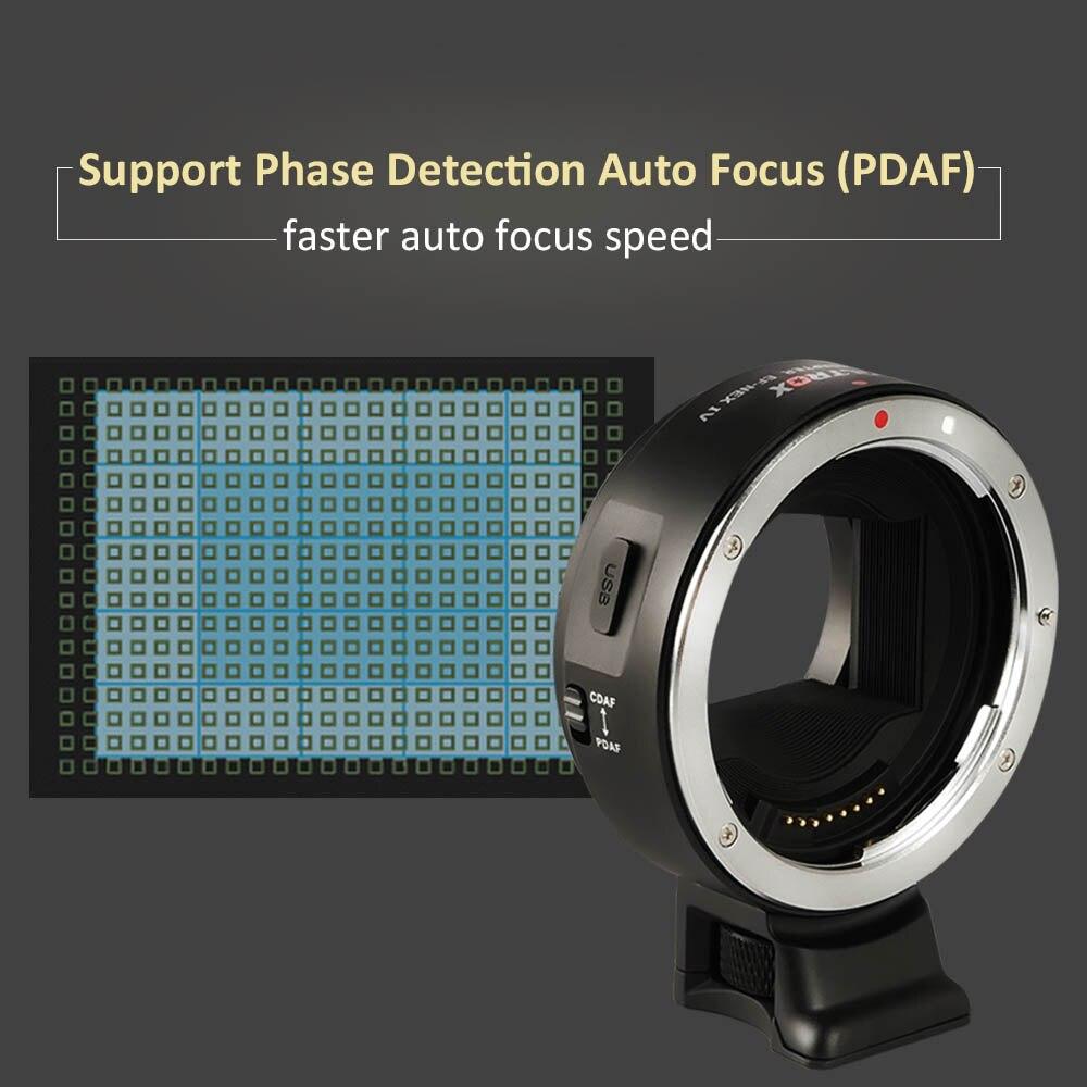 Viltrox EF-NEX IV Enfoque Automático Lente Adaptador para Canon EOS ...