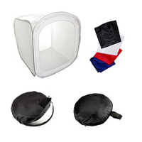 Top Deals 80CM BOX TENT LIGHT PHOTO STUDIO VIDEO soft box + 4 x Powerpoint background color