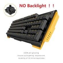 James Donkey 619 104 ключей Механическая игровая клавиатура с переключатель gateron игры Проводная клавиатура с USB для геймеров на ПК без Подсветка