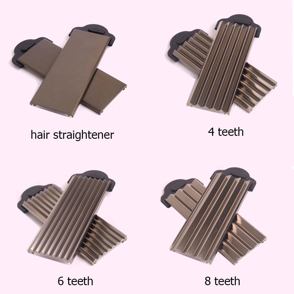 Купить с кэшбэком 4 in1 Straightening Irons Fast Warm-up Thermal Performance Professional Tourmaline Ceramic Heating Plate Hair Straightener