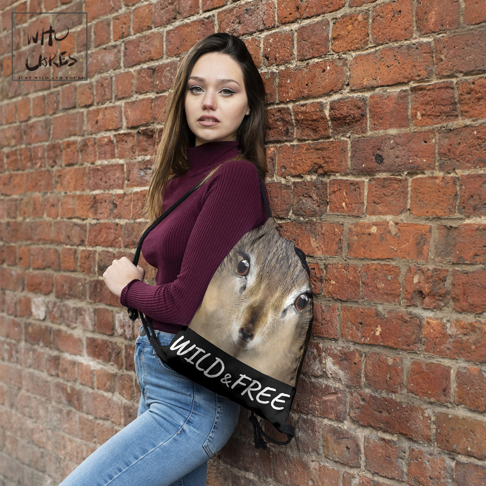 Image 2 - WHO CARES New fashion Backpack squirrel 3D printing travel softback bag drawstring bag Portable backpacks-in Backpacks from Luggage & Bags
