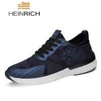 HEINRICH Male Shoes Casual Fashion Men's Genuine Leather Luxury Brand Designer Italian Men Shoes Zapatillas Hombre Deportiva