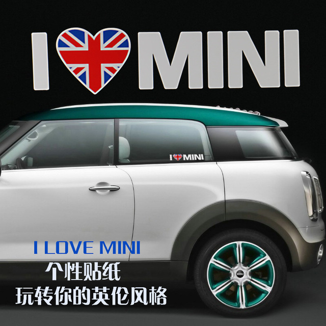 Specialize For Mini Cooper Car Use Personalized Side Door Stickers High Quality Uv Protected