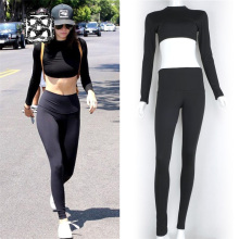 Crop top + Legging 2 pieces tracksuit for women sport suit female yoga set gym training fitness compression sportswear