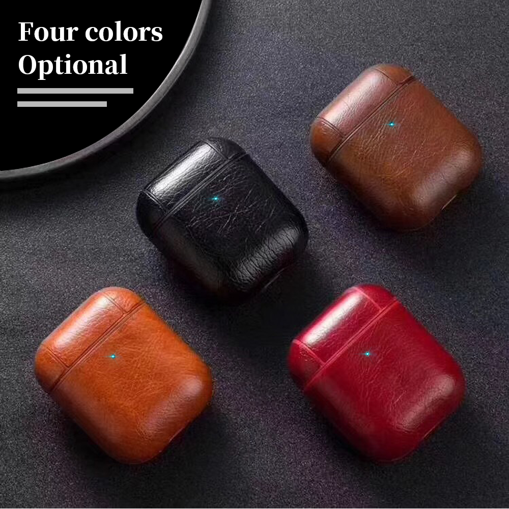 Luxury Bag For Apple AirPods Bluetooth Wireless Earphone Leather Case Cover For Air Pods 1 2 Funda Cover Charging Box Cases
