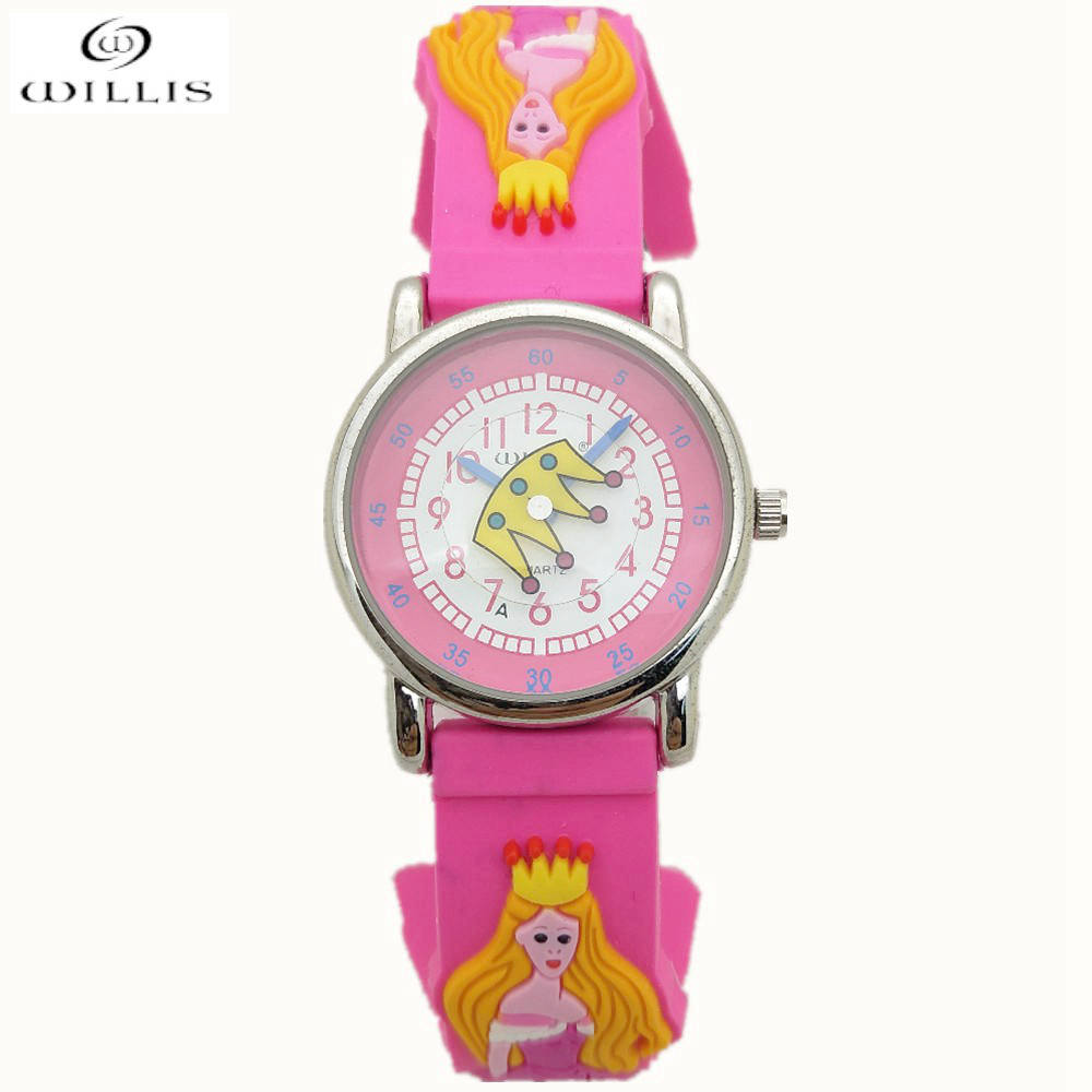 WILLIS Children 3D New Electronic Women Mini Water Resistant Sports Brand Watches Casual Watches Princess For Children Watches
