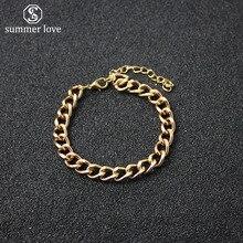 Модные золотые кубинские звенья, браслет на цепочке для мужчин и женщин, хиппи, хип-хоп ювелирные изделия,, вечерние, подарки
