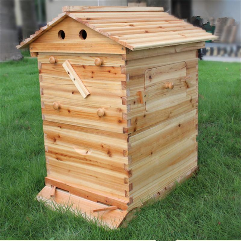 Automatic langstroth honey flow bee hive beehive with 7 pcs flow ...