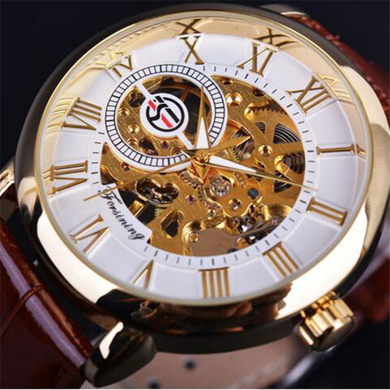 все цены на Mechanical Wrist Watches Fashion Business Sport Watch Men Luxury Famous Leather Band Clock Hodinky Male Watches Luminous Hollow