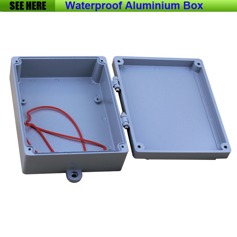 Free Shipping  1piece /lot Top Quality 100% Aluminium Material Waterproof IP67 Standard aluminium box enclosure 180*140*55mm 1 piece free shipping powder coating aluminium junction housing box for waterproof router case 81 h x126 w x196 l mm