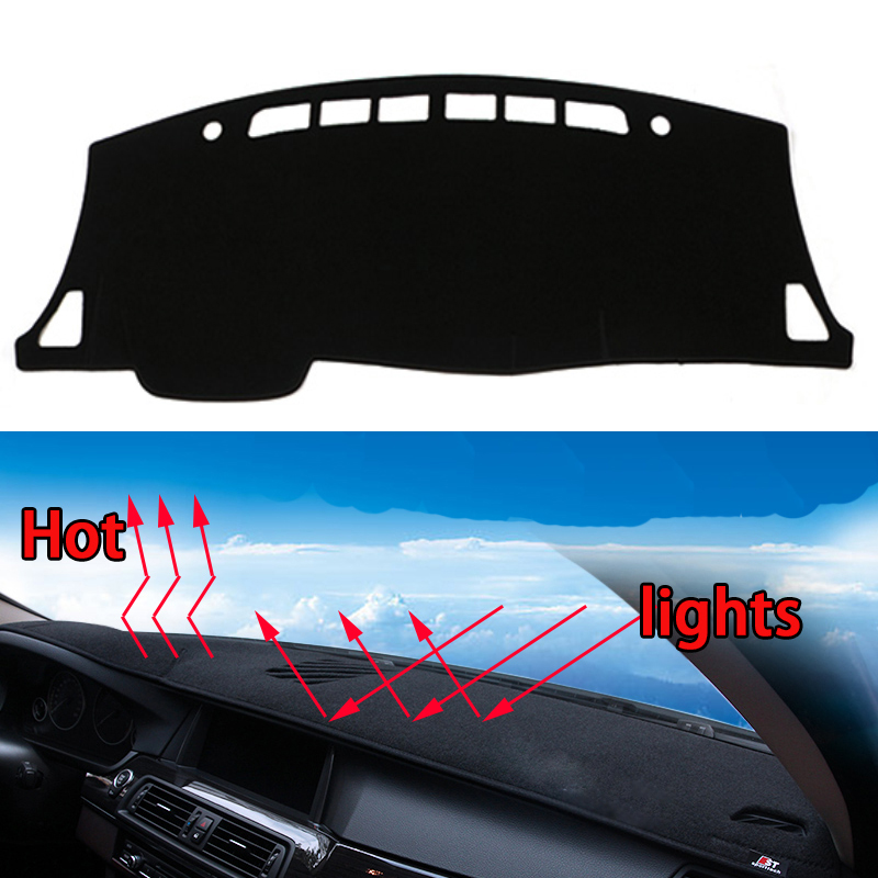 Car dashboard Avoid light pad Instrument platform desk cover Mats Carpets Auto accessories car styling for nissan bluebird 2016 special car trunk mats for toyota all models corolla camry rav4 auris prius yalis avensis 2014 accessories car styling auto