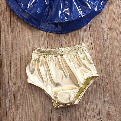 Baby Kids Girls Rufflles Swimwear 2 pc Halter Bikini Tankini Swimsuit Swimming Costume