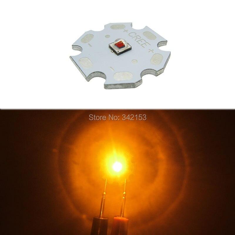3W Cree XPE2 XP-E2 Led Emitter Lamp Light Amber Yellow 585-590NM Super Bright LED Bulb Spotlight Garden Lighting аксессуары sonance e2 dual mini emitter
