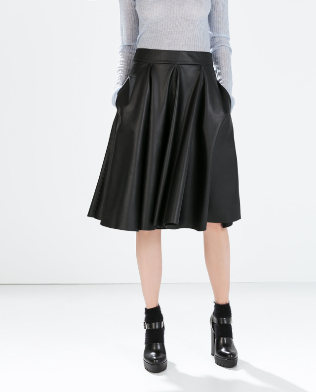 Black A Line Denim Skirt 2017 | Dress Ala - Part 756
