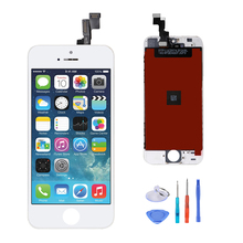 10PCS Black & White for iPhone 5S LCD Display Touch Screen Replacement Digitizer Frame Assembly Full Set Panel  Repair Tool Kits