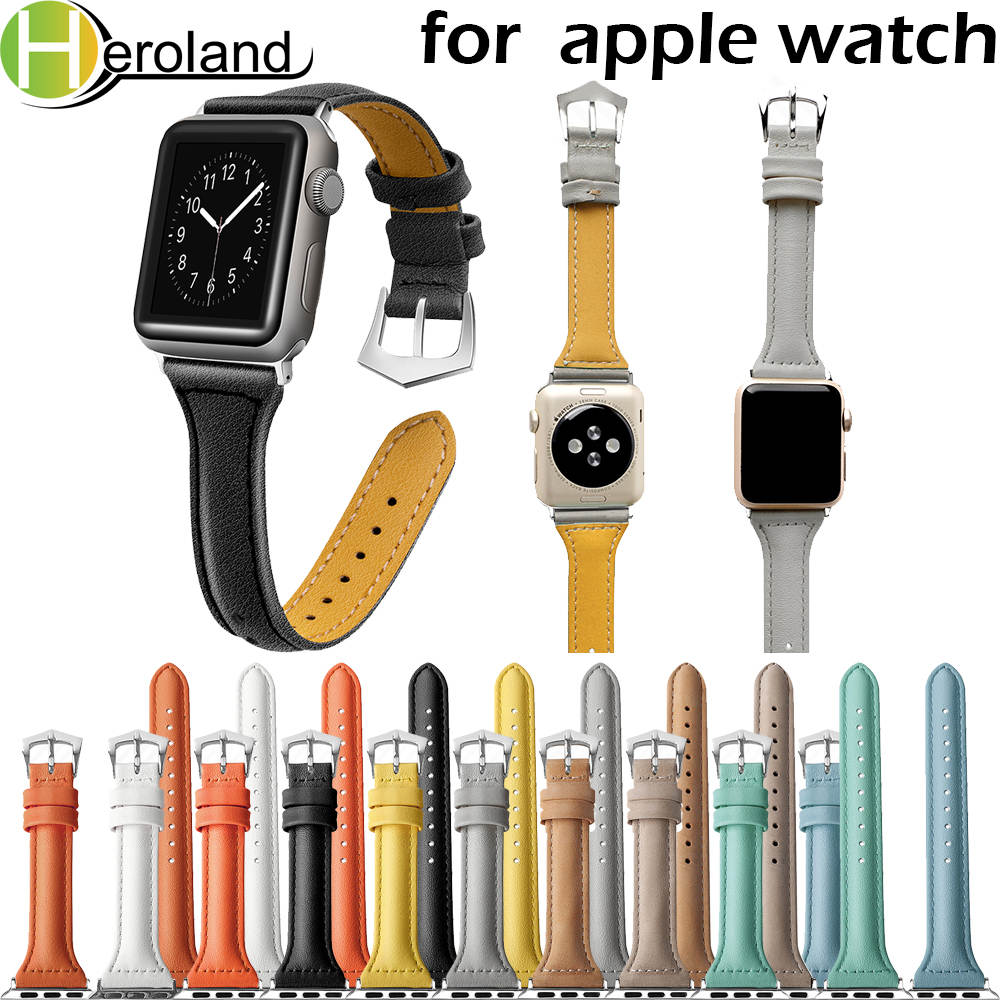Strap leather loop bands for Apple Watch 38mm 42mm 40mm 44mm Replacement Wristband for i watch series 4 3 2 1 watch band fashionStrap leather loop bands for Apple Watch 38mm 42mm 40mm 44mm Replacement Wristband for i watch series 4 3 2 1 watch band fashion