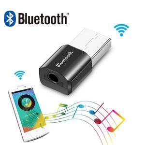 Image 2 - ミニ Bluetooth オーディオ AUX カーレシーバーアダプタ 3.5 ミリメートルワイヤレスポータブルスピーカー音楽受容 Usb スピーカーヘッドセットレシーバー