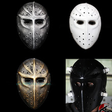 Slapshot Hockey Mask Jason Voorhees Freddy Cosplay Airsoft Game masks Whtie  Black M(China) 802536ede097b