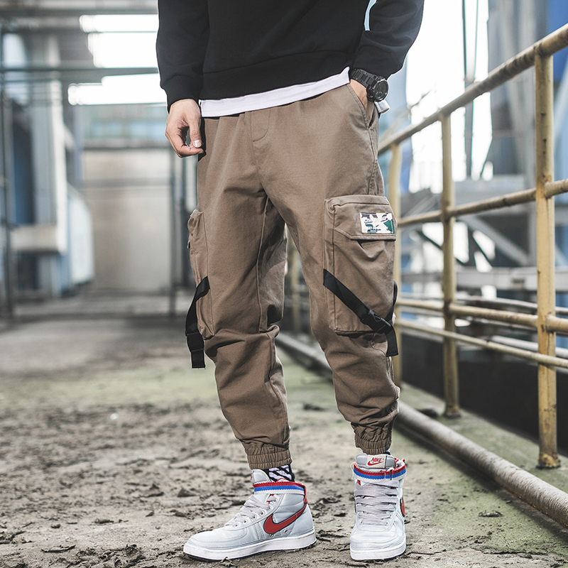 Harajuku Joggers Pants Men Army Green High Street Loose Hip Hop Casual Pants Male Cargo Fashion Japanese Style Y1341 Cargo Pants
