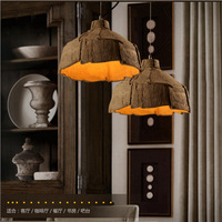 Industrial Pendant Lights Fixture Edison Lamps Cement Bar Cafe Living Room Lamp Home Lighting Lampadari Suspension Luminaire