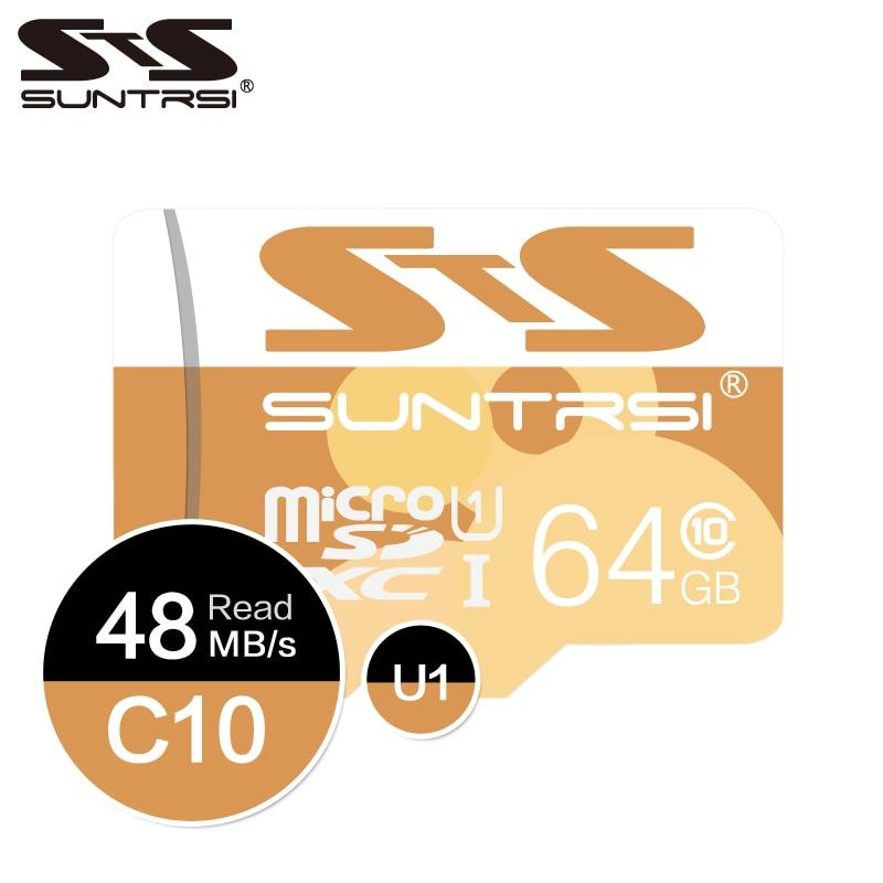 Suntrsi Speicher Karte High Speed Class10 Micro Sd-karte 64 gb Cartao de Memoria 8 gb 16 gb Microsd Telefon bis zu 48 mb/s TF karte Speicher