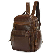 Free Shipping High Quality Selection Classic Vintage Unisex JMD Genuine Leather Backpack Messenger Bag #2751B-1