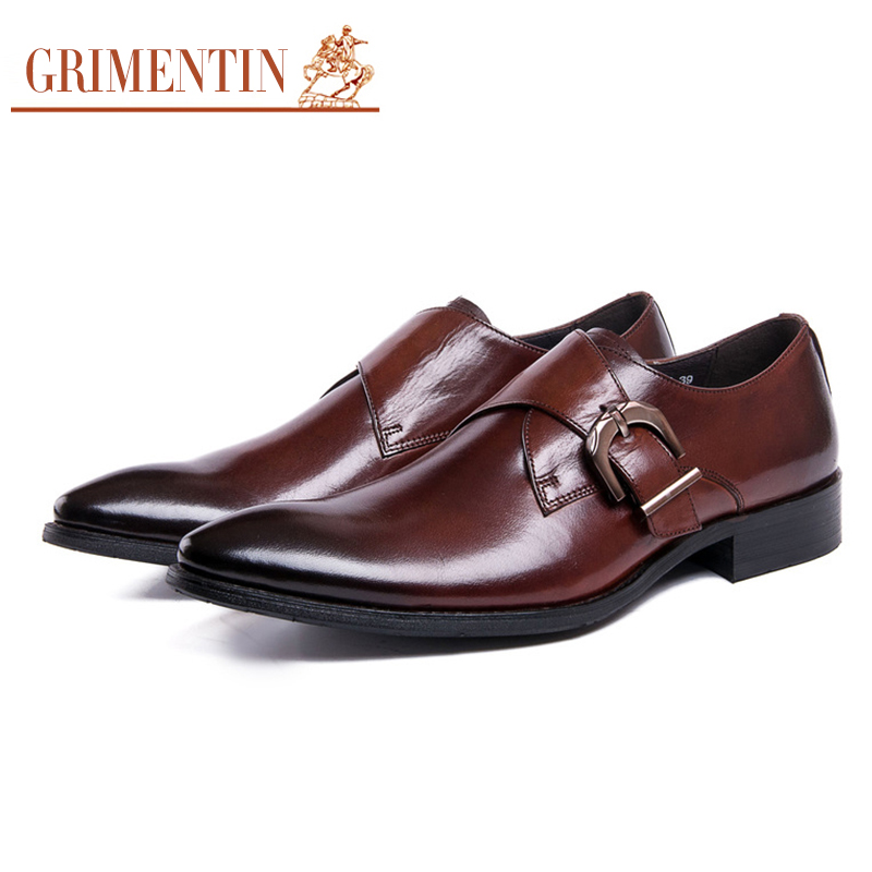grimentin brand classic buckle mens dress shoes