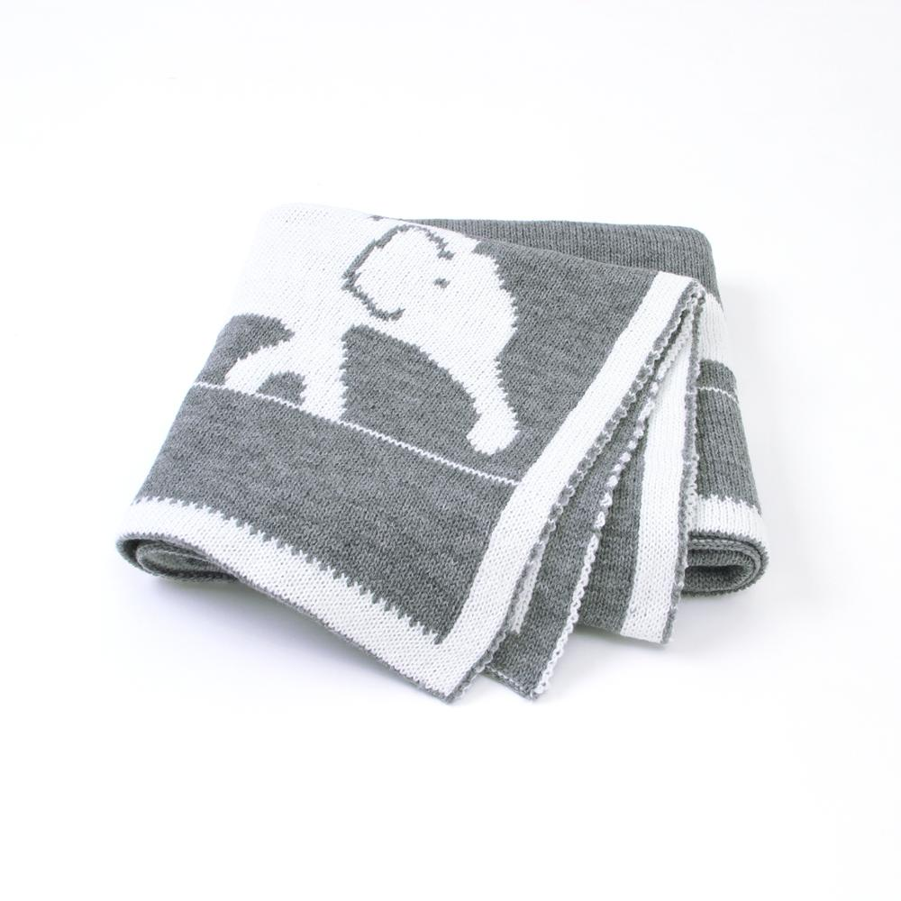 Baby Blankets Knitted Soft Newborn Swaddle Wrap Animal Elephant Toddler Boys Girls Throws Quilt Kid Sofa Bedding Blanket Cartoon
